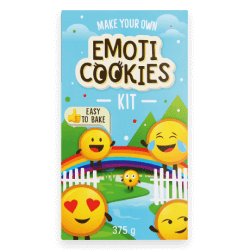 Express yourself with this fun set of bake-it-yourself emoji biscuits!