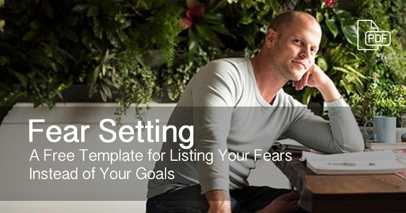 fear setting free checklist temaplet