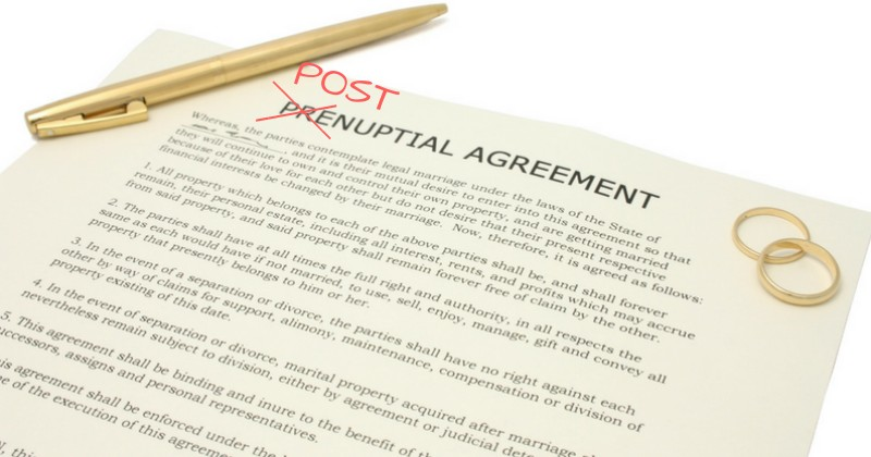 6 Reasons Postnuptial Agreements Are Polular