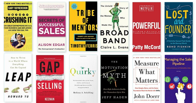 12 New Books for Entrepreneurs, Sales & Small Biz