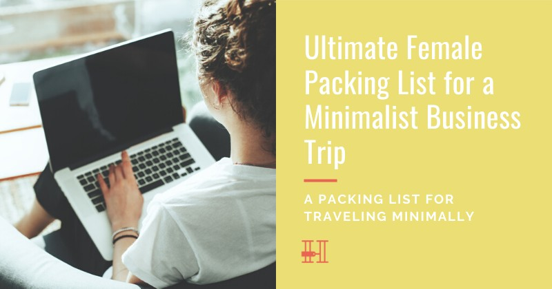 How to pack for minimally for a business trip