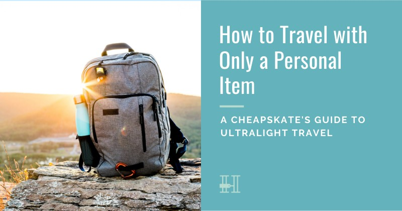 How to travel with a personal bag