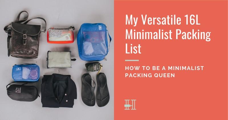 How to pack like a minimalist