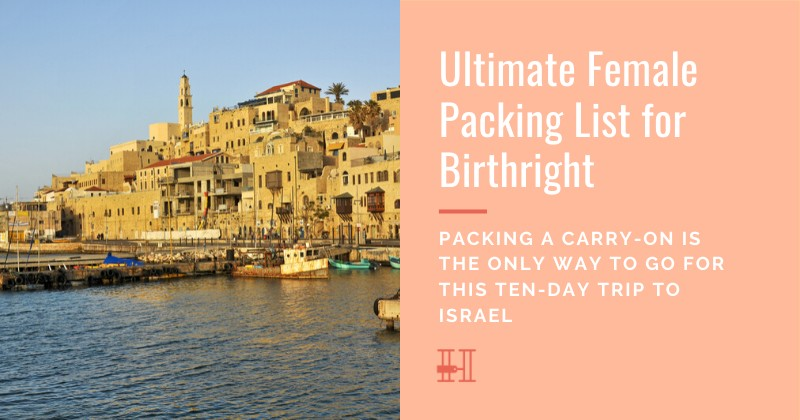 How to pack for Birthright