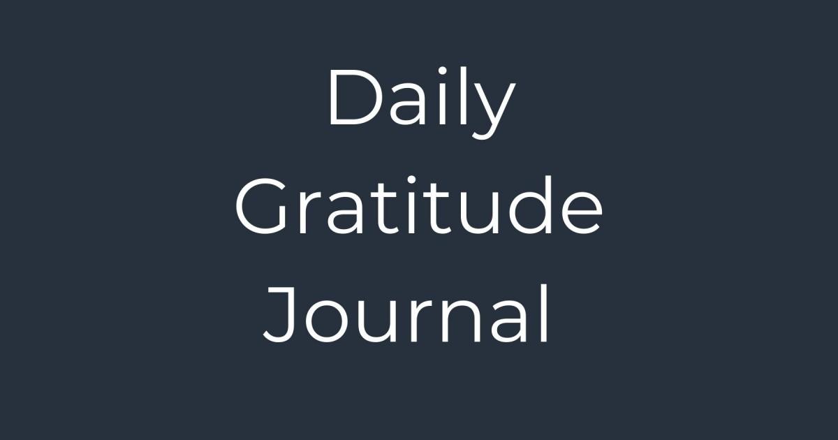 Daily Gratitude Journal Template