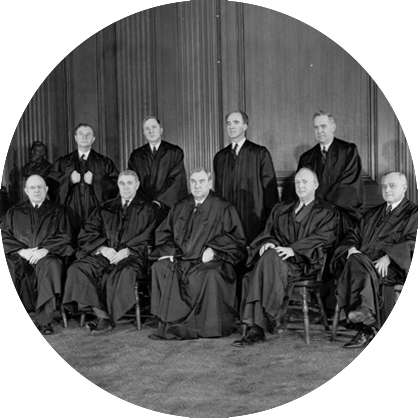 The Supreme Court which heard the case in March 1943.