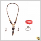 Jawaharaat  Necklace In Combination Of Wooden Touch Beads 20141221_Nacklet_10