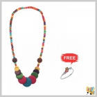 Jawaharaat Multicolour Necklet In Wooden Touch 20141221_Nacklet_9