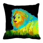 meSleep Lion Digitally Printed 16x16 inch Cushion Cover cd-29-33