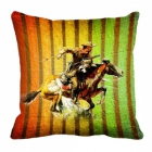 meSleep Horse Rider Digitally Printed 16x16 inch Cushion Cover cd-29-34