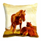 meSleep Horse Digitally Printed 16x16 inch Cushion Cover cd-29-40