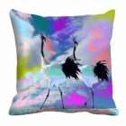 meSleep bird crane Digitally Printed 16x16 inch Cushion Cover cd-29-42