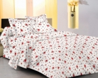 meSleep 100 Percent Cotton Yellow Double Bed sheet set 913-C