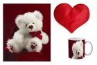 Canvas painting without frame and Valentine Heart Cushion and mug - Beautiful Teddy Bear  pc-vl-36-17vHF