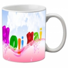 Mesleep Multi Colour Mug Holi-m-01