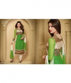Urwashi Rautela Green Georgette  Semi Stitched Anarkali Suit SHZL-10003