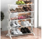 Superdeals Foldable Stainless Steel Shoe Rack SD024