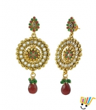 AAKSHI Ancient Bronze Meenakari Swaroop Jhumka Dangle Earings AKS_ER_ABMS