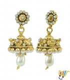 AAKSHI Classic White Pearl Jhumka Dangle Earings AKS_ER_CWPJ