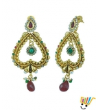 AAKSHI Golden Sweety Heart Jhumka Dangle Earings AKS_ER_GSHJ