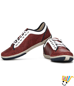 Woodland Sneakers Cushioned Tongue - Red