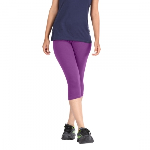 Hbhwear Womens Plain Capri HWPC-992-PRPLE
