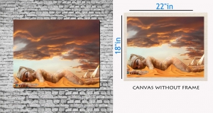meSleep Canvas painting without frame - Desert art  pc-11-002