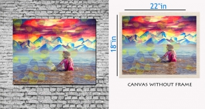 meSleep Canvas painting without frame - Baby  Beach Art pc-11-016