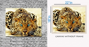 meSleep Canvas painting without frame - Yellow Tiger Art pc-11-040