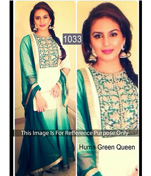 Bollywood replica Anarkali of Huma Qureshi 1033