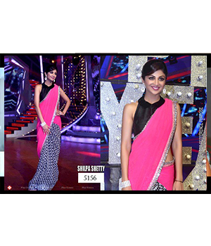 Bollywood Replica Saree of Shilpa Shetty 5156