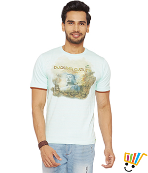 DUSG Organic T-shirt with Buddha Culture Print DUSG 265M