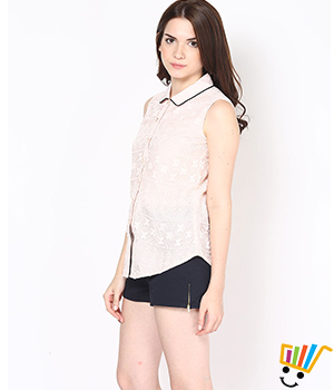 Eavan Light Pink Lace Shirt EA603