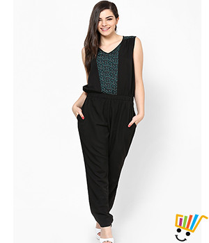 Eavan Black-Green Jumpsuit EA608