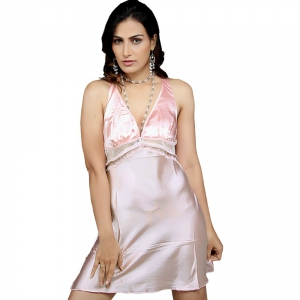 Baby Pink Classy Designer Hot Night Wear Set Pink Nightwear DLI4NTW573