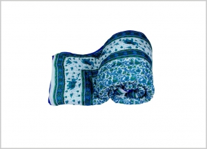 meSleep 100 Percent Cotton Blue Printed Double Bed Quilt-06-13