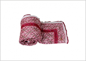 meSleep 100 Percent Cotton Red Double Bed Quilt-06-14