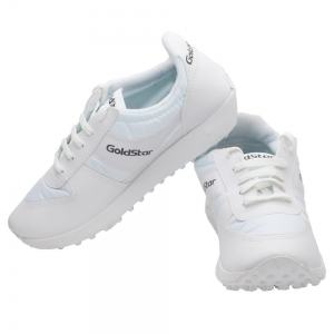 Goldstar Men Foot-Friendly Exclusive White Durable Spike Sport Shoes DLI5FTW606