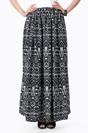 Eavan Printed Long Skirt EA969