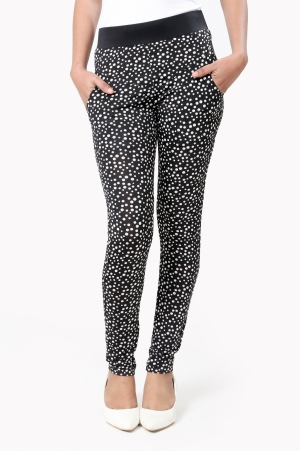 Eavan Black Dot Printed Jeggings EA970