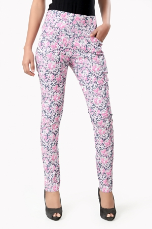 Eavan Floral Printed Jeggings EA973