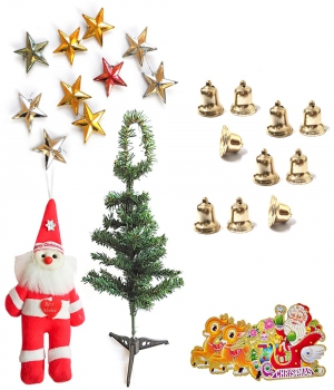 Send Christmas Tree Santa Cluas Bells N Stars Gift 108 Dl4Xmas108