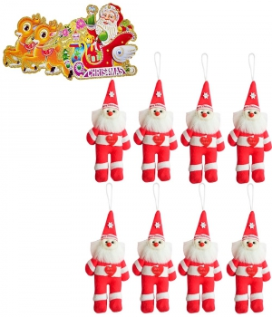Santa Claus 8 Pc. Set With Christmas Greeting Card 113 Dl4Xmas113