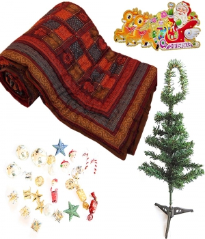 Double Bed Quilt N Decorative Christmas Tree Gift 134 Dl4Xmas134