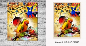 Mesleep Canvas painting without frame-Birds pc-13-1