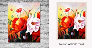 Mesleep Canvas painting without frame-Flower pc-13-19