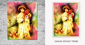 Mesleep Canvas painting without frame-child pc-13-2