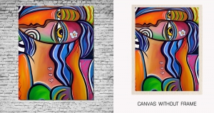 Mesleep Canvas painting without frame-Abstract Face pc-13-20