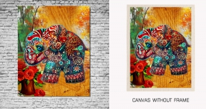 Mesleep Canvas painting without frame-Traditional Elephant pc-13-29