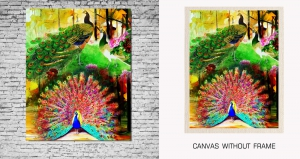 Mesleep Canvas painting without frame-Peacock pc-13-32